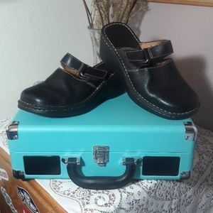 Born leather slip on Mary Janes